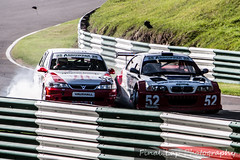 Steve Dunn getting punted into the barriers (finalLap.Photography) Tags: auto car crash accident euro seat racing sri leon bmw challenge motorsport vauxhall v6 cadwell stryker vectra saloons brscc