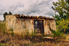 Abandoned Barn (Gene Krasko Photography) Tags: old abandoned architecture clouds barn landscape island countryside spain day cloudy antique structure espana tiles mallorca majorca balearicislands illesbalears tiledroof abandonedbarn islasbaleares genekraskophotography