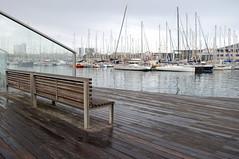 Port Vell (Crimilde_) Tags: barcelona port spain harbour porto barcellona vell panchina