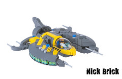 Rad Hazard (Nick Brick) Tags: fighter ship lego space scifi vic viper spacecraft hydrothunder novvember nickbrick radhazard
