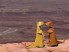 Suricate/ Meerkat (Lionel Albertino) (Danielle Verbeeten) Tags: art paper utah danielle canyonlands papier paperfolding papiroflexia folding meercat suricate stokstaartje vouwen vouwkunst papierkunst papiervouwen