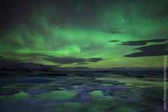 Northern Lights (Jokulsarlon) (baddoguy) Tags: nightphotography winter sky lake reflection star iceland tranquility naturalwonder northernlights auroraborealis jokulsarlon glacierlagoon naturalphenomenon solaractivity horizonatal