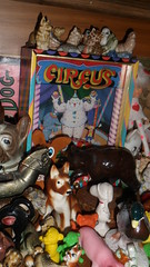The circus (912greens) Tags: home toys dolls collections cabinets glassanimals