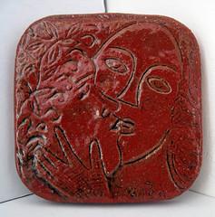 piastrella stile chagall_tecnica ceramica e smalto