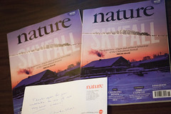 """Nature"" magazine with my photo on cover"