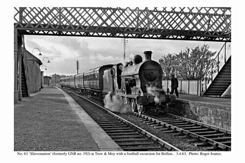 Trew & Moy. No. 63 with a football excursion for Belfast. 3.4.63