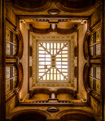 Leeds Library (S.R.Murphy) Tags: england building heritage history vertical architecture unitedkingdom library yorkshire ngc leeds ceiling column hdr westyorkshire canonefs1022mm ceilingwindow canon7d march2013