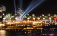 Amazing New Year Firework in Dubai (Charn High ISO Low IQ) Tags: longexposure nightphotography dubai uae firework newyear celebration unitedarabemirates hdr 2014 atlantishotel palmjumeirah canon6d hdrefexpro2