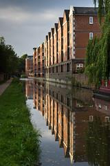 Wharf House Reflection (Lawrence Harman) Tags: uk reflection canal terrace oxford jericho oxfordshire towpath redbrick 2013 wharfhouse canon600d