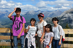 Top of the Mountain Group (pokoroto) Tags: summer people mountain canada top group august alberta banff 8  hachigatsu   hazuki 2013   leafmonth 25