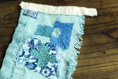 blue slow stitch (grrl+dog) Tags: blue slow sydney australia cloth patchwork dyeing eco grrldog wwwdneeseblogspotcom deniselitchfield grrlandog slowstitch