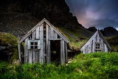 Among Giants (Ingólfur B) Tags: wood old house abandoned grass iceland traditional rustic cliffs east ísland viður ingó torf torfbær ingólfur yfirgefin ingólfurb