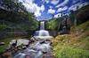 Cameron Valley Tea Farm Waterfall (fiz_zero) Tags: longexposure sky green nature water beautiful clouds waterfall nikon rocks asia sigma cameron malaysia 1020mm cameronhighlands sigma1020mm d7100 nikond7100