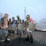 Training and exercise, preparing for the battle,  Independence square, Kiev, Ukraine
