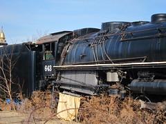 643 II (Fan-T) Tags: railroad lake abandoned rust rocks pennsylvania engine steam erie hulk wreck baldwin ble bessemer 643 2104 mckees