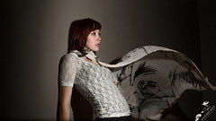 MysteryManPhotography---Kaitlynne-Scarf (MysteryManPhotography) Tags: scarf fun model dress modeling redhead falling gravity redhair poses hairflip externalfla