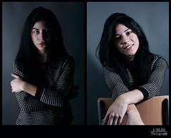 la morena (asolanaphotography) Tags: blue black cold girl beautiful azul high key head low estudio modelo study frio morena modelaje