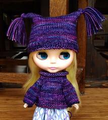 merino wool sweater - pattern by Polly