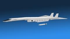 XB-70 Valkyrie 24 (Kurt's MOCs) Tags: lego north sac american usaf valkyrie moc ldd xb70