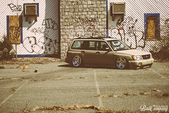 Jake's Forester (xrogly) Tags: low wheels automotive stretch poke subaru static flush rims wrx sti lowered subi slammed forester stance camber tuck fozzy fitment stanceworks canibeat stancenation 3sdm