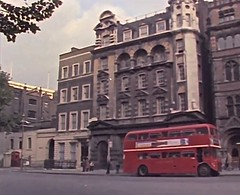 Entrance To Richmond Terrace Mews, Whitehall, Westminster, London, SW1. UK circa 1960's (sgterniebilko) Tags: london westminster march early ad bigben nights late 1970 1960s cenotaph mews whitehall chimes 6am sw1 2pm parliamentstreet londonbus downingstreet richmondhouse 10pm 1902 metropolitanpolice healthdepartment bookoff alphadelta nightduty redbuses coldnights ministryofhealth shiftwork canonrow greatcoats policeconstables cannonrowpolicestation londontransportbuses aorwhitehalldivision earlyturn lateturn richmondterracemews 79whitehallwestminsterlondonsw1