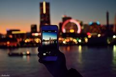 City Bokeh.. (Shubhashish Chakrabarty) Tags: japan bokeh 日本 yokohama nikkor kanagawa minatomirai 横浜 landmarktower iphone ランドマークタワー みなとみらい 横浜みなとみらい21yokohamaminatomirai21