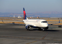 Delta Connection (Compass Airlines) Embraer 175 N606CZ (JerryKSAN737) Tags: sanfrancisco airplane airport sfo aircraft dal delta terminal dl compass embraer planespotting ksfo internationalairport erj170 cpz deltaconnection erj175 compassairlines n606cz
