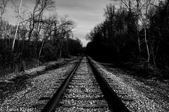 RR Tracks (justis.kivari) Tags: railroad monochrome night long exposure fuji tn tracks rr columbia xe1