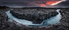 [ ... the gathering wilderness ] (D-P Photography) Tags: blue red panorama sun mountain sunrise canon river landscape island iceland stream highland nd landschaft hvita ndgrad dpphotography hitechreverse