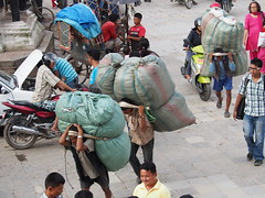 In Nepal people are used to carry big loads!