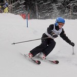 Okanagan NGSL Race at Apex - Finley Cashin skiing the course