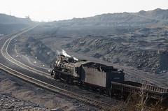 JS 8190 down (std70040) Tags: china steam xinjiang js steamengine steamlocomotive sandaoling chinasteam classjs