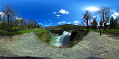Letchworth Middle Falls - 360 Degree Images (Matt Champlin) Tags: camping friends sun water waterfall spring nice hiking sunny 360 rochester virtual immersive letchworth gorge ricoh vr spherical springtime theta 360degrees 2016 equirectangular 360degreeimage ricohthetas 360degreeimages