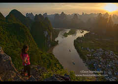 Sunset over hundreds of mountains, Xingping, Guangxi Autonomous Region, China (jitenshaman) Tags: china travel cruise sunset sun mountains tourism nature water river landscape asian boats liriver li boat scenery asia guilin yangshuo hill sightseeing chinese aerial hills limestone vista destination serene peaks overlook viewpoint karst contemplate birdseye guangxi xingping worldlocations laozhaishan laozhaihan birdseyepavillion