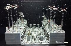 Lego MOC Battle of Yavin aka Death Star Trench (erman_arzk) Tags: starwars lego deathstar turbolaser tiefighter ywingfighter moc afol xwingfighter battleofyavin starwarsepisode4 tieadvance lnfighter lomlug