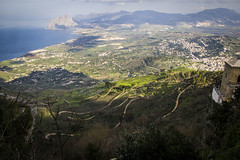 Erice (Rigby91) Tags: road sea italy mountain green view curvy sicily erice trapani