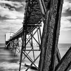 Lifeboat Station (ShrubMonkey (Julian Heritage)) Tags: longexposure sea bw beach station mono coast rust decay lifeboat coastal selsey rnli a7r