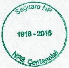 National Park Passport Stamp - Saguaro National Park - NPS Centennial (colinLmiller) Tags: nationalpark saguaronationalpark 2016 passportstamp rincondistrict npscentennial