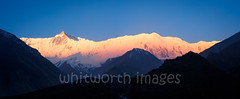 Morning view to the Great Barrier (whitworth images) Tags: morning blue nepal shadow sky panorama mountain snow colour nature sunrise trekking trek landscape outdoors dawn asia glow scenic nobody nopeople panoramic snowcapped valley annapurna himalayas highaltitude acap manang greatbarrier tilicho khangsarkang rocnoir indiansubcontinent annapurnacircuittrek annapurnaconservationarea tilichobasecamp annapurnaround lagrandebarriere