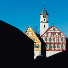 Sankt Albanskirche in Laichingen (SergMo Cutler) Tags: church kirche alban sankt fachwerk schwbischealb weberei laichingen albdonaukreis