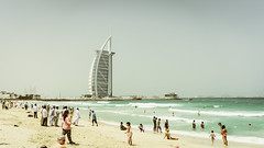 Burj al-Arab (Bartholomew K Poonsiri) Tags: ocean sea sky people beach water hotel seaside dubai uae middleeast wideangle burjalarab jumeirah persiangulf sonyepz1650mmf3556oss sonyilce6000