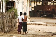 (d.huepe) Tags: world life road street people boys canon walking calle gente camino burma diversity nios vida caminar myanmar simple mundo mandalay bagan diversidad birmania t1i