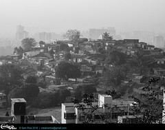 DSCN4142 (creativerios) Tags: blackandwhite building city cityscape crowded india mumbai outdoor photo poor slums