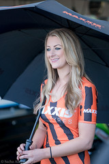 BSB Brands Hatch Indy 2016 - Maxxis grid girl Michelle (Sacha Alleyne) Tags: girl umbrella grid championship promo babe pit racing motorbike blonde moto motorcycle british promotional motorsport paddock pitlane brandshatch pirelli superbikes michellewestby