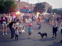Dogs and kids and dancing in the streets (EllenJo) Tags: arizona mainstreet pentax az event blockparty mytown fridaynight streetparty verdevalley 2016 may27 smalltownlife clarkdalearizona 86324 ellenjo ellenjoroberts summerinaz may2016 pentaxqs1
