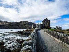eilean donan castle (fabioramiati) Tags: bridge sky castle clouds scotland ponte cielo eilean donan