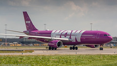 WOW Air A330-300 entering taxiway Q (Nicky Boogaard Photography) Tags: classic amsterdam wow airport aviation air united croatia delta airbus boeing airlines schiphol a330 tui airfrance 767 737 astana a319 dmaviation