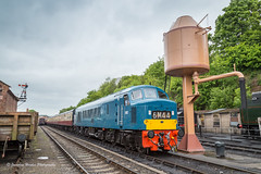 IMG_9858-1 (Nimbus20) Tags: br shropshire diesel watertower worcestershire severnvalley severnvalleyrailway 2016 britishrailways bewdley dieselgala class46 chromaticblue
