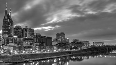 Downtown Nashville Tennessee (HDR) (tshabazzphotography) Tags: nashville tennessee country music canon official photos photography outdoors night long exposure blackandwhite bw monochrome mono chrome riverfront urban downtown
