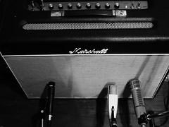 Guitar Amp (ondahlmusic) Tags: bw studio guitar olympus recording penf olympus25mm18